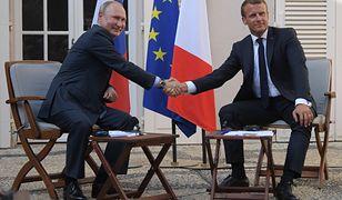 Rosja. Spotkanie Putin - Macron