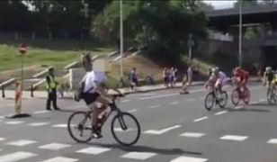 Tour de Pologne. Prawie doszło do tragedii (WIDEO)