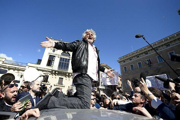 Beppe Grillo, założyciel Ruchu Pięciu Gwiazd