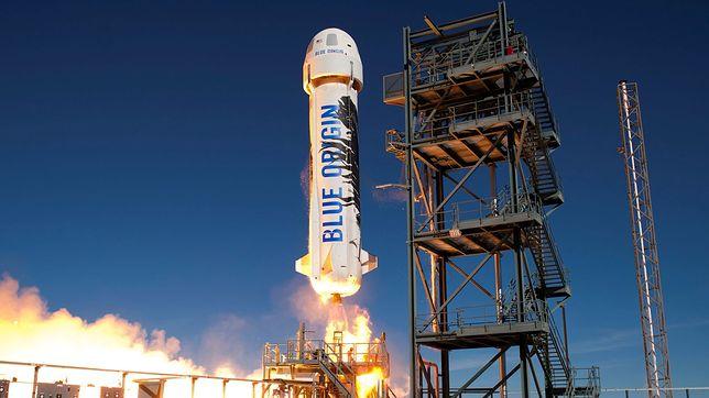Jeff Bezos wystrzelił rakietę New Sheppard. Nieprzerwane sukcesy Blue Origin