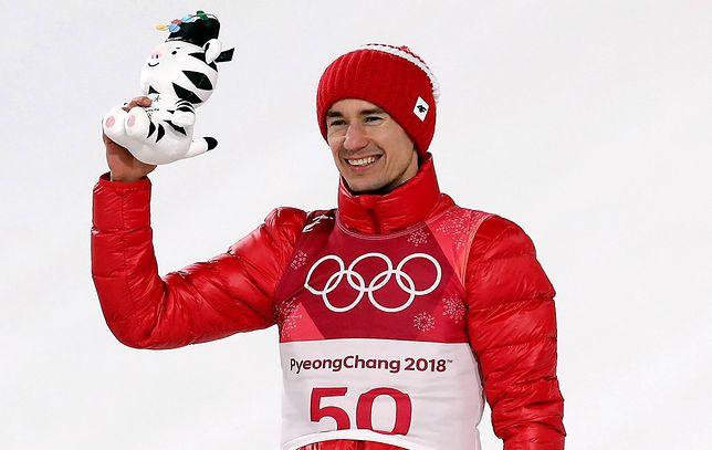 Kamil Stoch zdobył złoty medal, podczas konkursu olimpijskiego na dużej skoczni