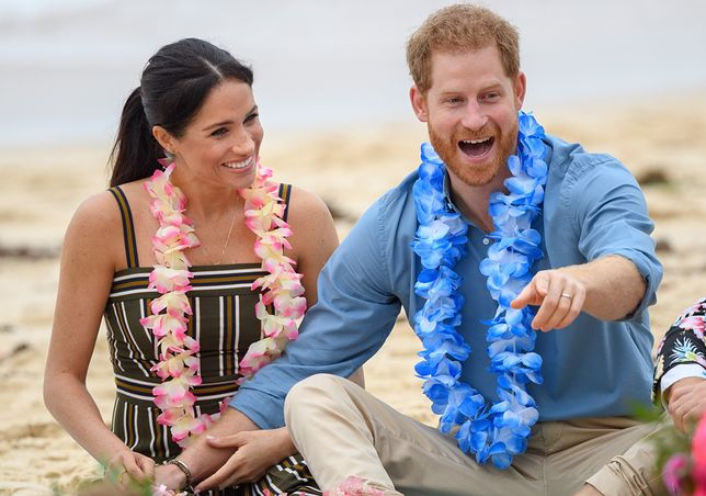 Meghan i Harry na plaży w Australii