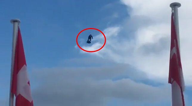Nad Cannes pojawił się mężczyzna na latającej desce. Dziennikarze podejrzewają promocję nowego hitu