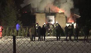 Pożar domu w Nieliszu