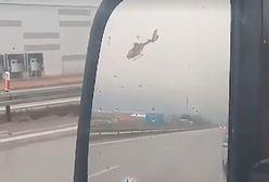 Niebezpieczna sytuacja na A4. Problemy pilota LPR. Jest nagranie