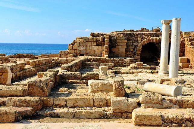Izrael - ruiny starożytnego miasta Cezarea Nadmorska