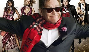 Elton John, Naomi Campbell i Romeo Beckham w świątecznej odsłonie Burberry