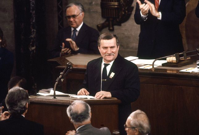 Lech Wałęsa wygłosił słynne przemówienie w USA 14 listopada 1989 r.