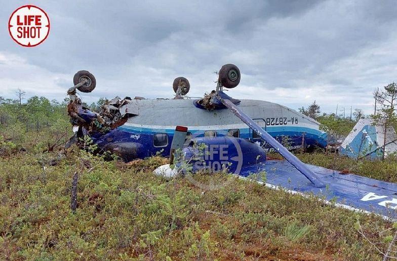 Katastrofa samolotu An-28 w Rosji. Wyciekły zdjęcia wraku