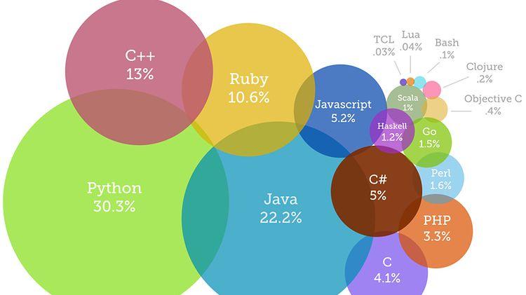 Poznaj najbardziej popularne języki programowania w roku 2014