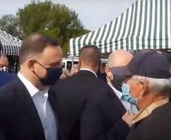 Andrzej Duda w Garwolinie. Mieszkaniec przyszedł z żalem do prezydenta