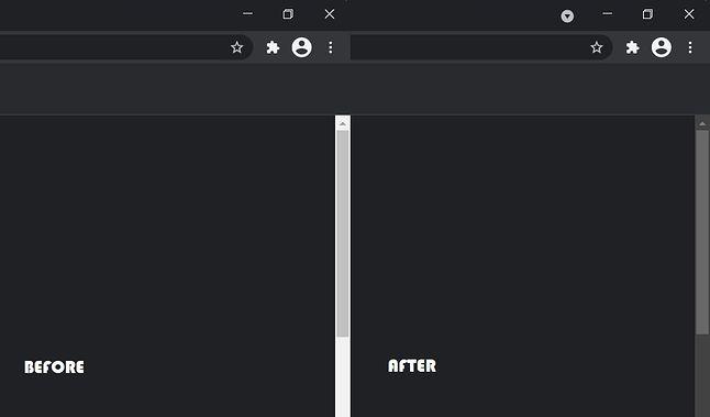 Jasny i ciemny pasek przewijania w Google Chrome Canary, fot. Windows Latest.
