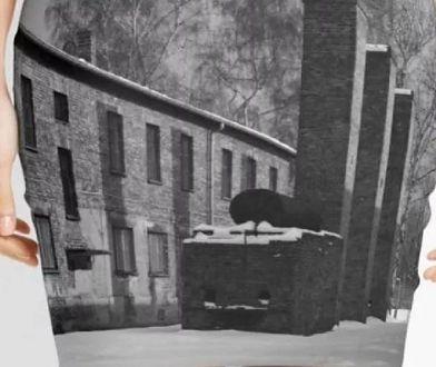 Spódnica ze zdjęciem Auschwitz