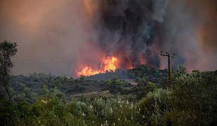 Grecja. Ogromne pożary na wyspie Zakynthos