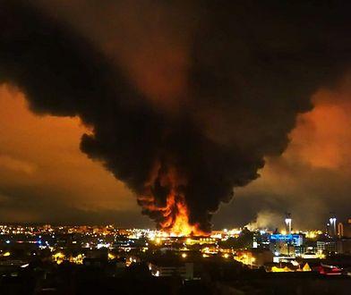 Pożar zakładów chemicznych we Francji