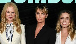 """""""Bombshell"""". Nicole Kidman, Margot Robbie, Charlize Teron oraz inni na pokazie filmu."""
