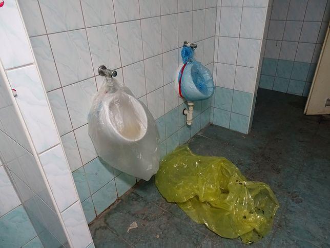 Toaleta na komisariacie Wrocław-Fabryczna