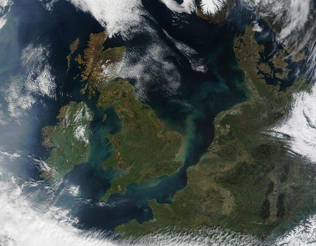 Wyspy Brytyjskie widziane z kosmosu