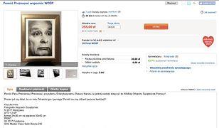Zrzut ekranu z opisem aukcji, która została usunięta.