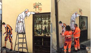 Usunięto wspaniały mural z papieżem Franciszkiem. Nawet duchowni protestowali, by go zostawić
