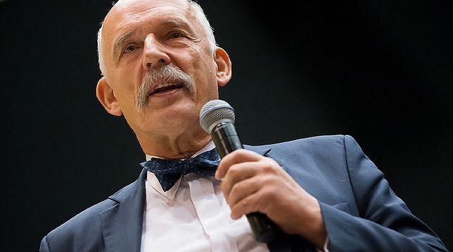 """Korwin-Mikke krytykowany za słowa nt. okupacji niemieckiej. """"Poddaję się"""""""