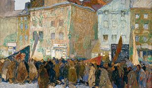 Warszawa z czasów wojny na obrazach niemieckiego malarza. Tak wyglądała kiedyś stolica!