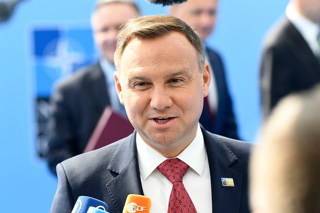 """Andrzej Duda broni słów Donalda Trumpa ws. obronności. """"Dyskusja była rzeczywiście żarliwa"""""""