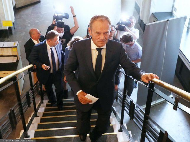 Donald Tusk w drodze na Radę Krajową Nowoczesnej