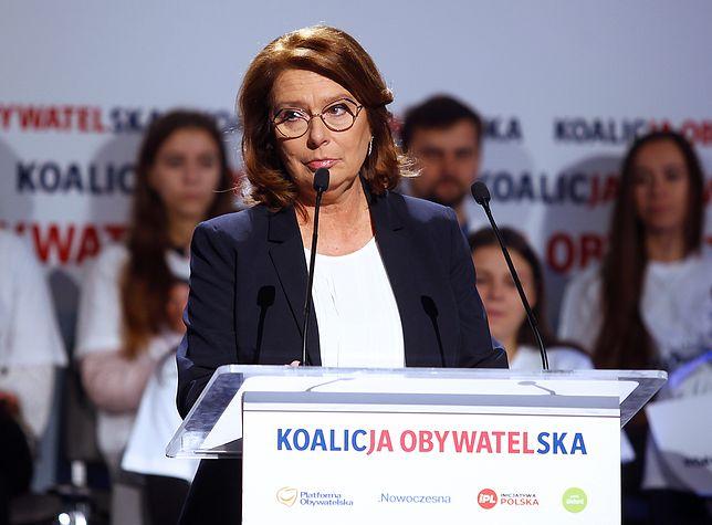 Małgorzata Kidawa - Błońska krytykowała brak dymisji prezesa NIK