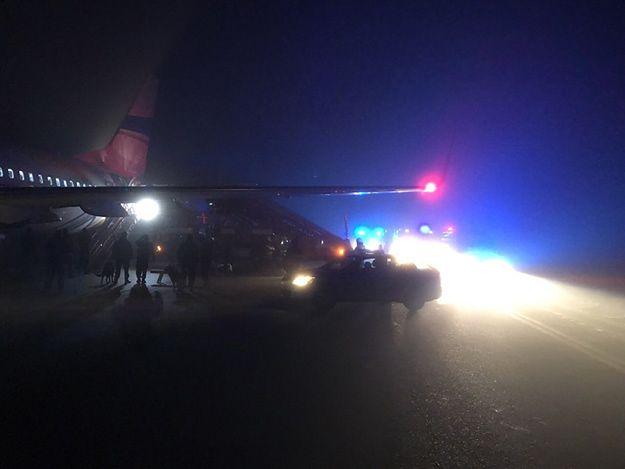 Awaryjne lądowanie samolotu lecącego do Polski