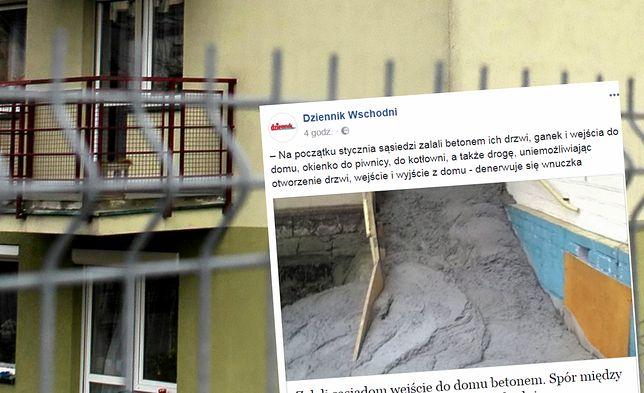 Zalali betonem wejście do domu sąsiadów. Rodziny kłócą się już od kilkudziesięciu lat