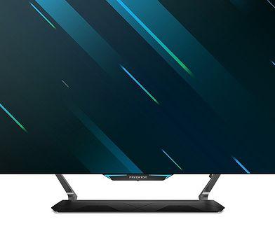 55-calowy monitor przeznaczony dla graczy konsolowych