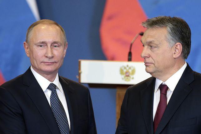 Prezydent Rosji Władimir Putin i premier Węgier Victor Orban.