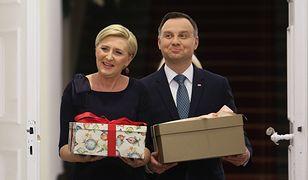 W Pałacu Prezydenckim już święta. Agata Duda w sukience jak prezent