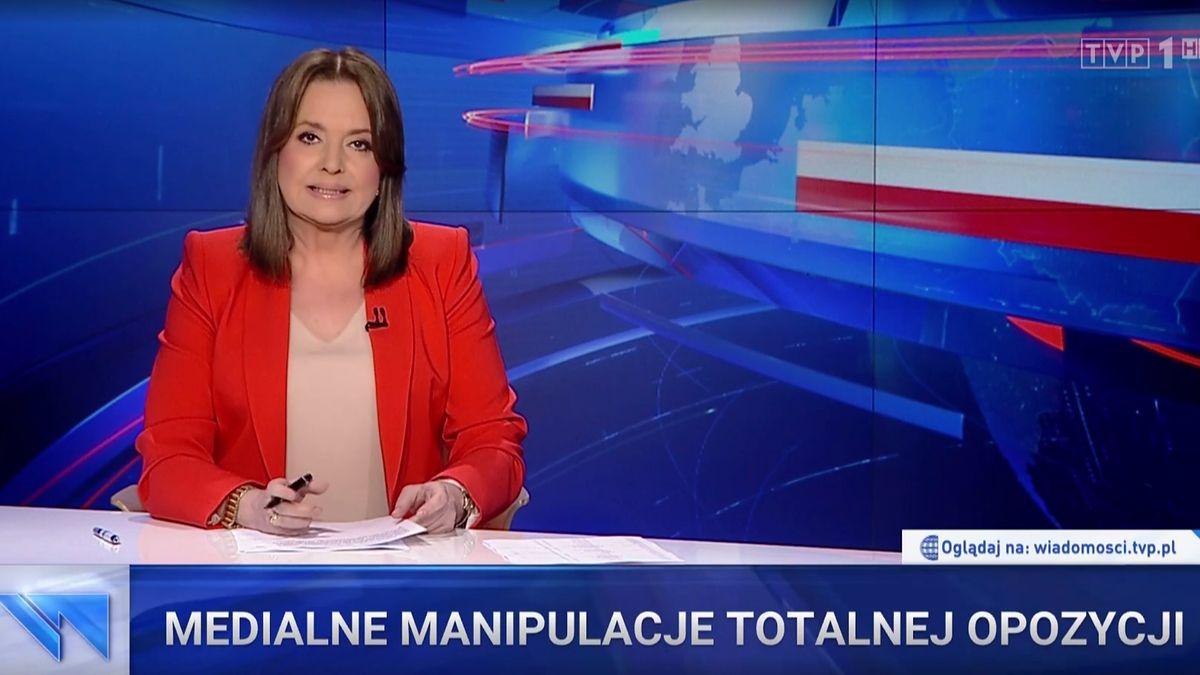 """Danuta Holecka prowadziła wtorkowe wydanie """"Wiadomości"""""""