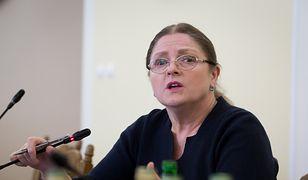 Krystyna Pawłowicz z ochroną SOP