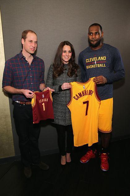 Księżna Kate, książę William, LeBron James