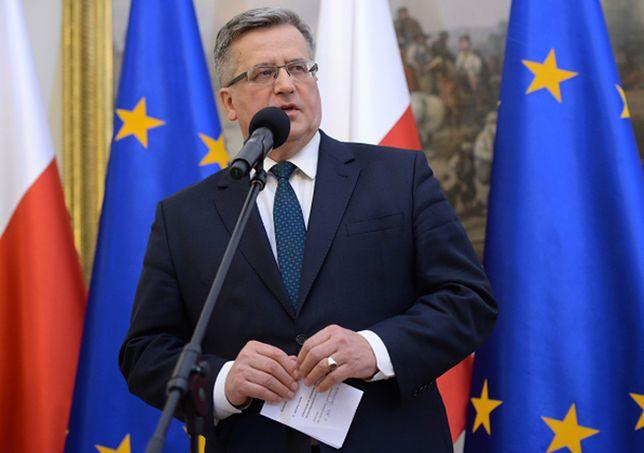 Bronisław Komorowski: nie chcę być częścią sporu rządu z górnikami