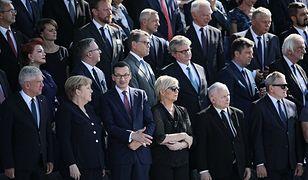 Jarosław Kaczyński spotkał się z weteranami podczas uroczystości na pl. Piłsudskiego w Warszawie