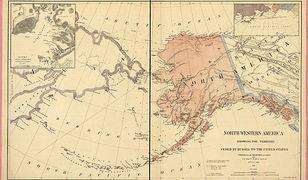 Mapa Alaski z 1867 roku. To wtedy Amerykanie kupili ją od Rosjan za 7 milionów dolarów. Nie wiedzieli jeszcze jakie skarby kryje pod lodem.