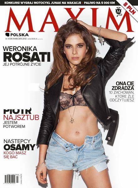 Weronika Rosati na okładce kwietniowego MAXIMA
