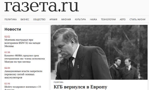 Rosyjska prasa łączy Wałęsę, SB i KGB