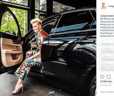 Małgorzata Kożuchowska w jaguarze