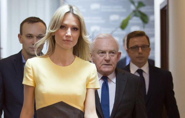 Magdalena Ogórek z politykami SLD