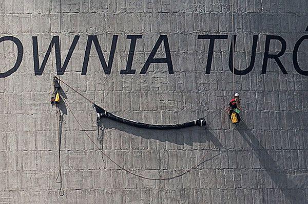 Protest Greenpeace'u w elektrowni Turów