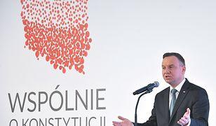"""Prezydent Duda na konwencji """"Wspólnie o konstytucji""""."""