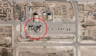 Satelitarne zdjęcia obrazujące skutki ataków rakietowych na amerykańskie bazy w Iraku