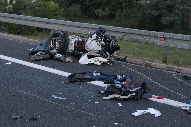 Olkusz. Po zderzeniu z samochodem ciężarowym motocyklista zginął na miejscu (zdj. archiwum)