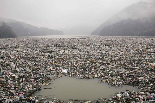 Serbskie jezioro Potpecko zamieniło się w wysypisko śmieci