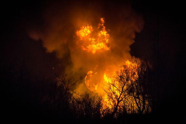 Zdjęcie pożaru wykonane przez naszego Czytelnika